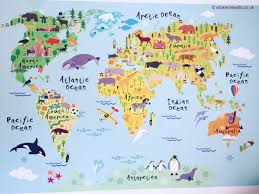 Reusable World Map Wall Sticker For Kids Map Of The World Etsy Kids World Map World Map Wall Decal Map Wall Decal
