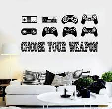 Vinyl Wall Decal Gaming Quote Joysticks Video Game Stickers Ig4500 Ebay