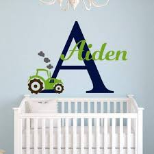 Boys Name Tractor Decal Wall Decal Boys Room Kids Wall Decals Kids Room Wall Decals
