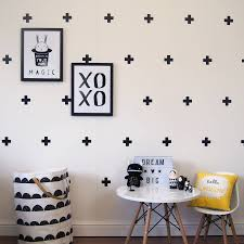 Cross Design Wall Decals Modern Wall Decor Cross Plus Sign Decal Removable Decor Kids Bedroom Living Room Set Of 63 Pcs Za757 Wall Decor Kids Bedroomwall Decals Aliexpress