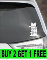 Dr Who Dalek Vinyl Sticker Car Approx 5 Ebay