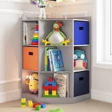 Shop Riverridge Kids 6 Cubby 3 Shelf Corner Cabinet Overstock 14229822 Grey