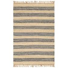 navy and cream jute area rug