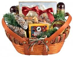 gift basket with meat and cheese