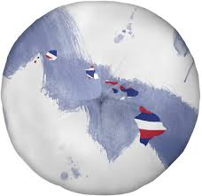 Amazon.com: ArtVerse Katelyn Smith Hawaii State Floor Pillow - Round  Tufted, 26 x 26, Watercolor: Home & Kitchen