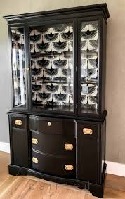 black painted china cabinet painted