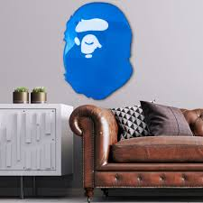 Blue Bape Wall Art In 2020 Resin Wall Art Dorm Room Wall Decor Wall Art