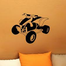 Atv 4 Wheeler Vinyl Decor Decal Art Wall Sticker Kiscus