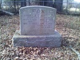 Addie Isabelle Hollar Fox (1870-1953) - Find A Grave Memorial