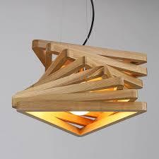wood phantom triangle pendant lamp led