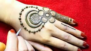 simple mehndi design flower wali