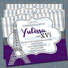 Invitaciones De Xv Anos Invitaciones Paris Torre Eiffel Xv S