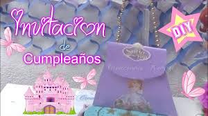 Invitacion De Cumpleanos De La Princesa Sofia Youtube