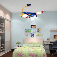 Creative Cartoon Airplane Children S Bedroom Led Ceiling Lamps Morden Kid S Study Room Ceiling Light Boys Bedroom Light Kids Room Lighting Childrens Room Decor