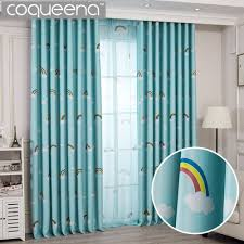 Lovely Rainbow Kids Curtains For Boys Girls Room Children Bedroom Door Window Curtain Panel Drapes Window Treatments Blue Pink Kids Room Curtains Boy Girl Room Kids Curtains