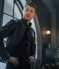 James Gordon Gotham Ben McKenzie Black Leather Jacket