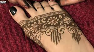 mehndi arabic design pair ki
