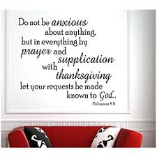 Amazon Com Do Not Be Anxious Philippians 4 6 7 Vinyl Wall Art Decal Sticker Home Kitchen