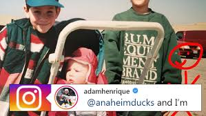 Adam Henrique shares incredible childhood photo of himself wearing ...