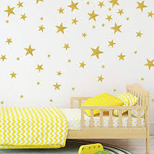 wall decals with gold glitter sparkling