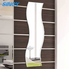 long wave shaped silver mirror glass
