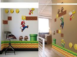 Super Mario Bros Wall Decals Gadgetsin Mario Bros Room Super Mario Room Mario Room