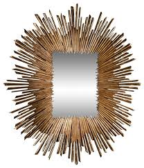 soleil gold leaf framed wall mirror