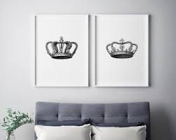 King Crown Wall Decor Etsy