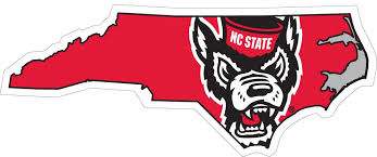 Nc State State Logo Vinyl Decal Ultimate Sports Apparel