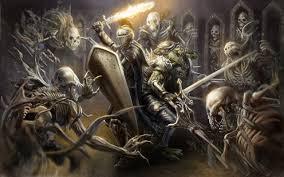 swords knight shield sorcery monsters