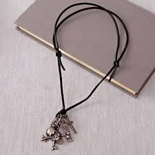 skulls and dagger pendant for men gift
