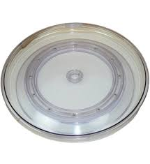 clear lazy susan turntable 18 inch in