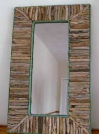 large rectangle driftwood mirror