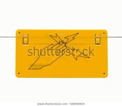 Signs Electric Fence Wiredanger Electric Fence Stock Photo Edit Now 528583615