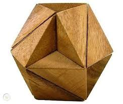 hexagon cube 3d wood puzzle wooden