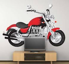 Red Motorbike Sticker Tenstickers