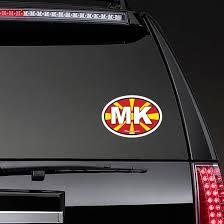 Macedonia Mk Flag Oval Sticker