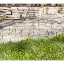 Garden Accents 32 In X 10 Ft Black Steel Garden Fence Edging In The Landscape Edging Department At Lowes Com