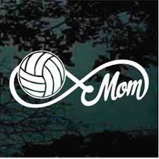 Volleyball Lightning Strike Decals Car Window Stickers Decal Junky