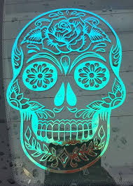 Sugar Skull Car Decal Skull Wallpaper Sugar Skull Artwork Skull Decal