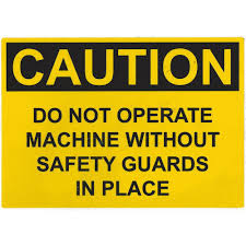 Caution Safety Guard Decal Pdblowers Inc