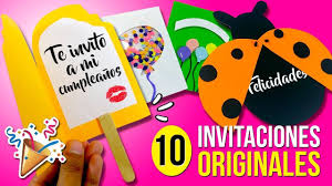 10 Invitaciones Faciles Y Originales Para Hacer En 1 Minuto Invitaciones Tarjeta De Felicitacion Manualidades