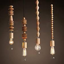 beads wood ceiling pendant fixtures