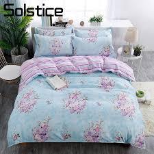 bedding set blue flower duvet cover