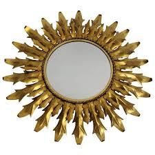 1stdibs sunburst mirror gilded metal