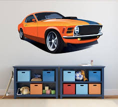 Muscle Car Wall Decal Mustang Car Wall Art Boys Room Decor Etsy