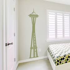 Space Needle Wall Decal Seattle Wall Art Wallums