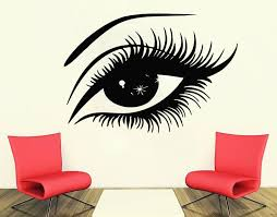 Eyelash Decals Eyelashes Wall Decal Window Sticker Beauty Etsy