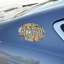 Other Car Truck Decals Stickers Auto Parts And Vehicles Bloom Pretty Flowers Spring Car Euro Oval Magnet Hairli Hr