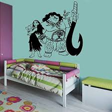 Amazon Com Moana Maui Image Moana Wall Vinyl Decal Home Decor Applique Kid Room Boys Girls Bedroom Graphic Moana5 Home Kitchen